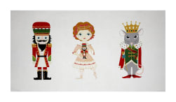 Alexander Henry Christmas Time Nutcracker 24'' Panel Red Fabric