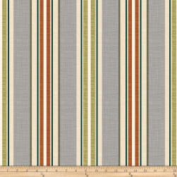Bryant Indoor/Outdoor Baja Linen Stripe Pewter Fabric