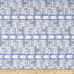 French Tribal Stripe Jacquard Blue/Off White