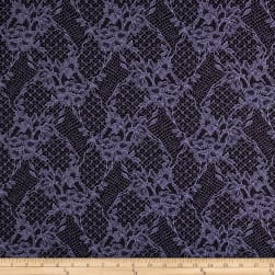 Italian Floral Fancy Brocade Lavender/Dark Brown Fabric