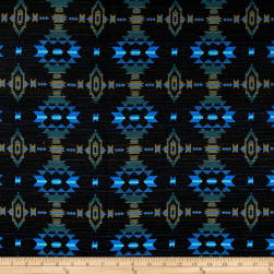 French Aztec Inspired Jacquard Green/Blue/Black