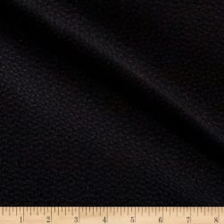 Italian Textured Wool Boucle Black Fabric