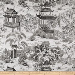 Covington Osaka Toile Jacquard Granite Fabric