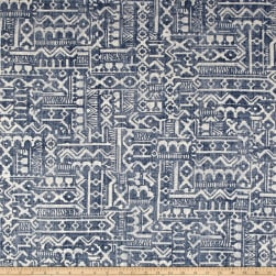 Covington Tanner Basketweave Dark Denim Fabric