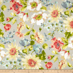 Swavelle/Mill Creek Indoor/Outdoor Alfina Earl Grey Fabric