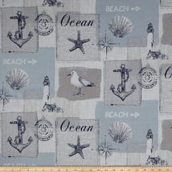 Golding by P/Kaufmann Gulls Point Jacquard Sky Fabric