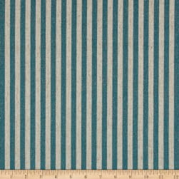Golding by P/Kaufmann Scout Stripe Canvas Teal Fabric