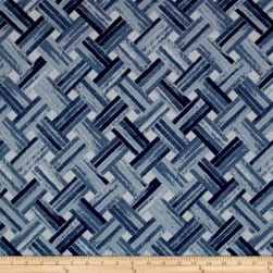 Golding by P/Kaufmann Weaver Jacquard Blue Fabric
