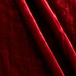 Rayon/Silk Blend Velvet Passion Red