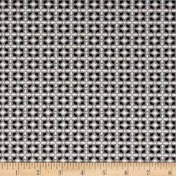 Stretch Double Knit Jacquard Suiting Black/White Fabric