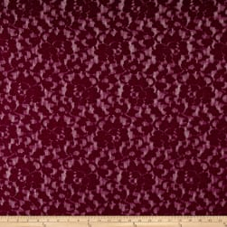 Corded Floral Lace Burgundy