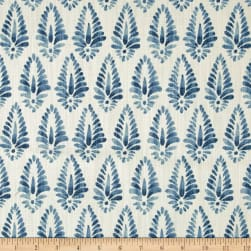 Lacefield Designs Agave Linen Blend Basketweave Azure Fabric