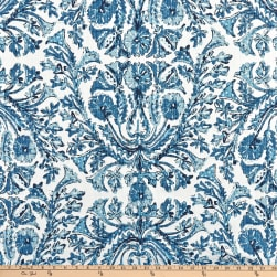 Lacefield Designs Sofia Linen Blend Basketweave Azure Fabric