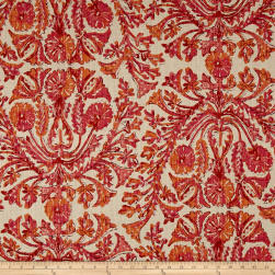 Lacefield Designs Sofia Linen Blend Basketweave Rosa Fabric
