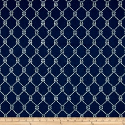 PKL Studio Square Knots Navy Duck Fabric