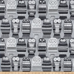 PKL Studio Hoot N' Holler Graphite Duck Fabric