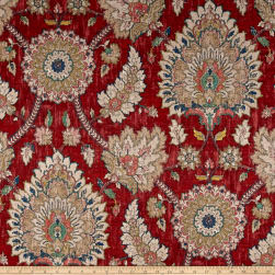 Waverly Castleford Garnet Duck Fabric