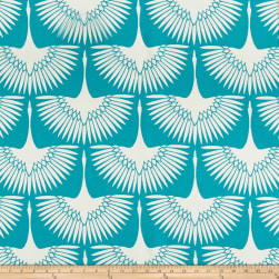 Genevieve Gorder Outdoor Flock Cerluean Fabric