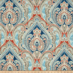 Kelly Ripa Home Indoor/Outdoor Pretty Witty Lagoon Fabric