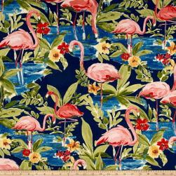 Waverly Sun N Shade Flamingoing Lagoon Fabric