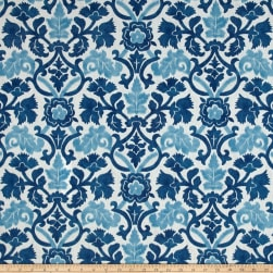 Waverly Sun N Shade Anika Indigo Outdoor Fabric