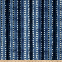 Waverly Sun N Shade Java Journey Indigo Fabric
