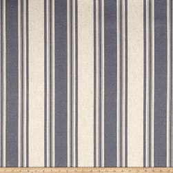 Waverly Thames Stripe Indigo Linen Fabric
