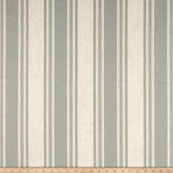 Waverly Thames Stripe Lagoon Linen Fabric