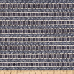 Waverly Admiral Chenille Jacquard Stripe Baltic Fabric