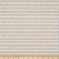Waverly Admiral Chenille Jacquard Stripe Nickel Fabric
