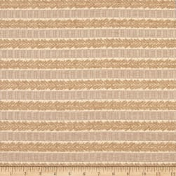 Waverly Admiral Chenille Jacquard Stripe Ochre Fabric