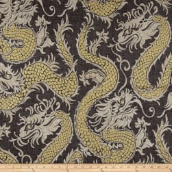 Waverly Good Fortune Noir Linen Fabric