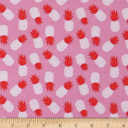 Riley Blake Havana Pineapple Jersey Knit Pink Fabric