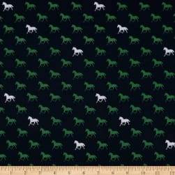 Riley Blake Derby Day Horses In Jersey Knit