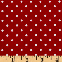 Riley Blake Flannel Basics Swiss Dot Red