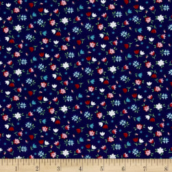 Riley Blake A Little Sweetness Floral Navy Fabric