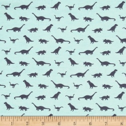 Riley Blake Fossil Rim Jersey Knit Tiny Dino Blue