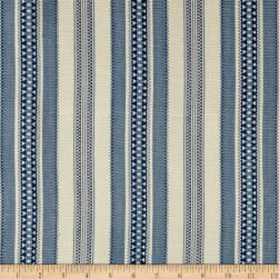 Laura & Kiran Alpine Canvas Jacquard Stripe Blue Fabric