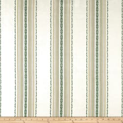 Laura & Kiran Ibiza Stripe Canvas Green/White Fabric