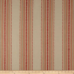 Laura & Kiran Ibiza Stripe Canvas Red/Tan Fabric