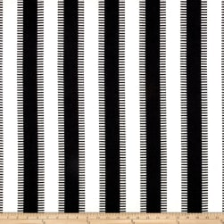 Laura & Kiran New Ladder Stripe Black/White Fabric