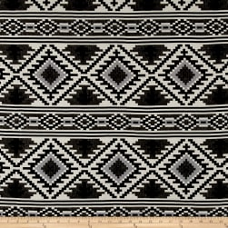 Laura & Kiran Saddle Blanket Doubleweave Jacquard Black/White Fabric