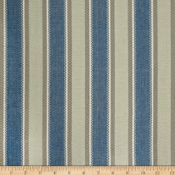 Laura & Kiran Valencia Stripe Canvas Blue/Aqua Fabric