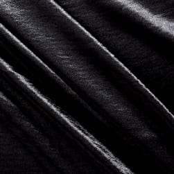 Telio Mirror Satin Black Fabric