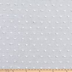Telio Swiss Dot White Fabric