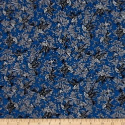 Telio Portia Crepe Take Flight Indigo Fabric