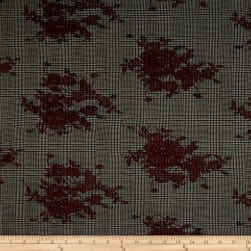 Telio Camden Embroidered Suiting Wine Fabric