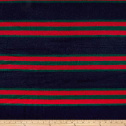 Telio Fumiko Stripe Faux Wool Navy/Green Fabric