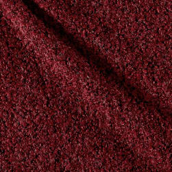 Telio Curly Cue Boucle Red Fabric