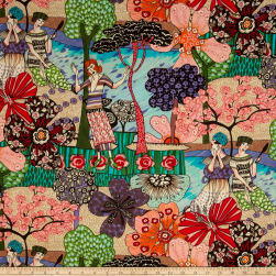 STOF France New Orleans Multicolor Fabric